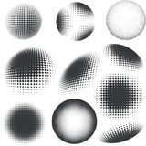 Halftone black and white design elements Stock Images
