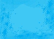 Halftone blauw Stock Fotografie