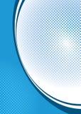 Halftone blauw als achtergrond Stock Fotografie