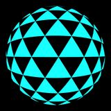 Halftone blauwe cirkel Royalty-vrije Stock Fotografie