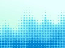 Halftone blauwe golven Royalty-vrije Stock Afbeelding
