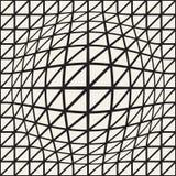 Halftone bloateffect optische illusie Abstract geometrisch Ontwerp als achtergrond Vector naadloos zwart-wit patroon Stock Foto