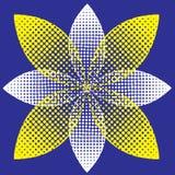 Halftone bloem Royalty-vrije Illustratie