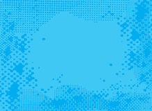 Halftone blue Stock Photography