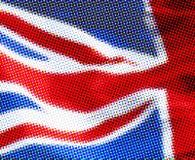 Halftone Britse vlag stock afbeelding