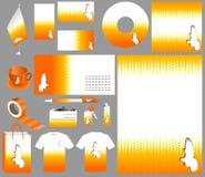 Halftone business set vector Stock Photos