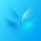Halftone butterfly Stock Photo