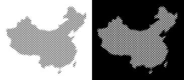 Halftone China Map royalty free illustration