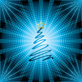 Halftone christmas background Stock Photography