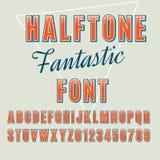 Halftone chrzcielnica Zdjęcie Stock