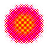 Halftone circle Stock Image