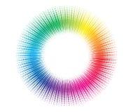 Halftone circle background vector illustration
