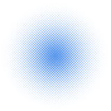 Halftone circle /dots. Light blue color halftone circle pattern Stock Images