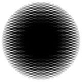 Halftone circle element of lines forming a grid. Monochrome half Royalty Free Stock Photo