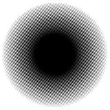 Halftone circle element of lines. Monochrome halftone pattern. Stock Photos