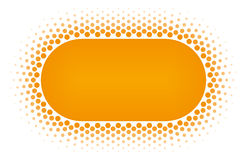 Halftone circle frame vector design element. Royalty Free Stock Images