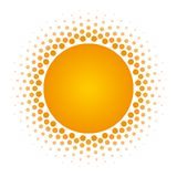 Halftone circle frame vector design element. Royalty Free Stock Image