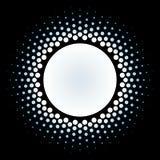 Halftone circle frame vector design element. Royalty Free Stock Photo