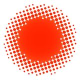 Halftone circle orange Royalty Free Stock Photography
