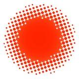 Halftone circle orange