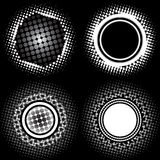 Halftone circle patterns Royalty Free Stock Images
