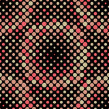 Halftone Circle Tiles, Vector Seamless Pattern Stock Images