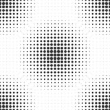 Halftone circles.  Abstract dotted texture. Seamless vector back. Halftone circles. Seamless vector background. Spots of different sizes forming repeating Stock Photography