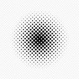 Halftone circles effect, dot pattern. Vector illustration. Isolated on transparent background. Stock Photography