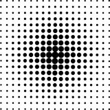Halftone circles, halftone dot pattern. Royalty Free Stock Images