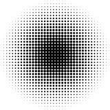 Halftone circles, halftone dots pattern. Monochrome half-tone. Royalty free vector illustration Royalty Free Stock Photo