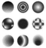 Halftone Circles Stock Photos