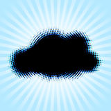 Halftone cloud shape with color aberrations Royalty Free Stock Photos