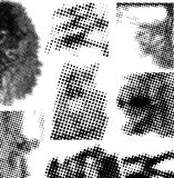 Halftone collection Royalty Free Stock Photography