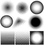 Halftone collection  set Royalty Free Stock Photo