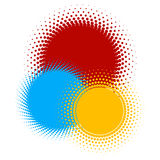 Halftone - color rings 2 Stock Image