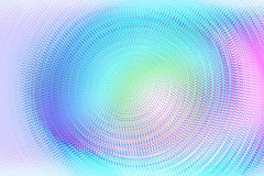 Halftone colorful background. Hologram dotted texture. Vector swirl backdrop futuristic rainbow color. Royalty Free Stock Photo