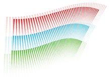 Halftone colorful design Stock Photos