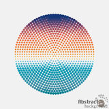Halftone colorful dot circle, center of the radial pattern Royalty Free Stock Photography