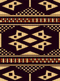 Halftone colorful seamless retro pattern aboriginal brown check. Square geometry can be used for both print and web page Stock Photos