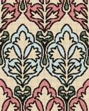 Halftone colorful seamless retro pattern aboriginal brown garden Stock Images