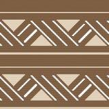 Halftone colorful seamless retro pattern aboriginal brown square Royalty Free Stock Photo