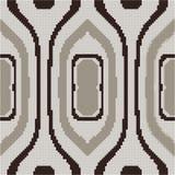 Halftone colorful seamless retro pattern aboriginal curve oval  Royalty Free Stock Photos