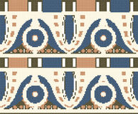 Halftone colorful seamless retro pattern aboriginal round flower Stock Photos