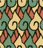 Halftone colorful seamless retro pattern aboriginal spiral curve Stock Image
