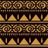 Halftone colorful seamless retro pattern aboriginal triangle  Stock Photography