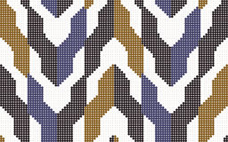 Halftone colorful seamless retro pattern arrow geometry block Royalty Free Stock Image