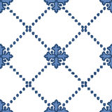 Halftone colorful seamless retro pattern blue dot line check cro Royalty Free Stock Photo