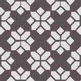 Halftone colorful seamless retro pattern check polygon cross geo Royalty Free Stock Image