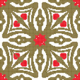 Halftone colorful seamless retro pattern cross geometry red star Stock Images