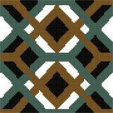 Halftone colorful seamless retro pattern cross square check diam Royalty Free Stock Image
